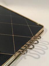 Tablett Glas & Messing Tray 50s 60s Design Sweden? 60er 50er Glass & Brass +++
