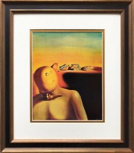 "Salvador Dali ""The Average Bureaucrat"" CUSTOM FRAMED ART Surreal Surrealism"