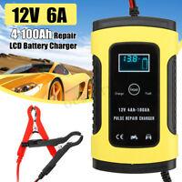 12V 6A impulsion Réparation LCD Chargeur de batterie Plomb-acide Pr Voiture Moto