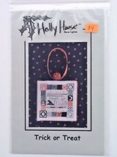 Holly House Designs Trick or Treat Chart Pattern Halloween Cross Stitch BOOO