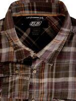 DIESEL 55DSL Shirt Mens 15 S Brown - Check LIGHTWEIGHT