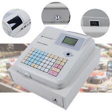 Electronic Cash Register Withdrawer Box 48 Keys Pos Casher 8 Digital Led Display