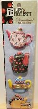 Mary Engelbreit Dimensional Stickers 4 Teapots  Adorable!  New!
