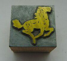 Vintage Printing Letterpress Printers Block Animal . Horse