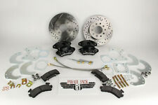 "Ford 9"" Rear Disc Brake Conversion with D/S Rotors & Black Wilwood Calipers"