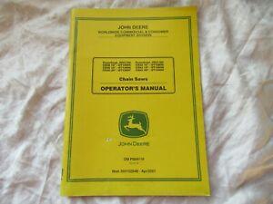 John Deere chain saws  operator's manual