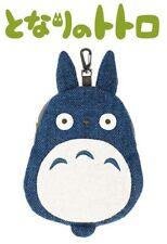Ensky Ghibli My Neighbor Totoro Medium Totoro Die-cut Tweed Zipper Pouch Bag NEW