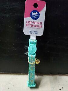 Whisker City Easy-Release Aqua MOD Print Kitten 😸 Collar