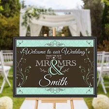 Personalised Welcome to our Wedding Sign Banner Poster Print N168 (Print Only)