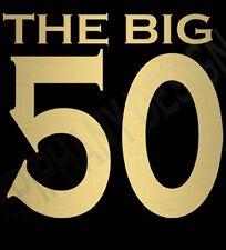 LA GRAN 50 Cumpleaños T-SHIRT 50 dorado diseño Regalo Ideal