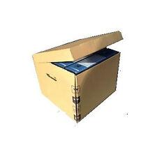 5 Scatole di cartone Doppia Onda per archivio - porta 4 faldoni dorso 8cm