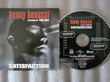 CD-BENNY BENASSI-SATISFACTION-ISAK ORIGINAL-ENERGY/AIRPLAY(CD SINGLE)2002-2TRACK