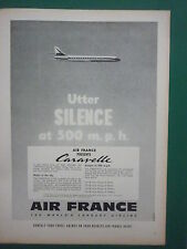 3/1959 PUB AIR FRANCE AIRLINE AVION CARAVELLE AIRLINER AIRCRAFT ORIGINAL AD