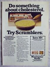 1978 Magazine Advertisement Page Morningstar Farms Scramblers Egg Substitute Ad