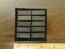 Ten Vintage Intel Memory DIP IC's, 2147H-1 Ceramic Package