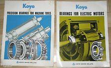 Koyo Seiko Japan Bearings for electric motors machine tools 2 prospects 1973