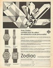 Publicité Advertising 1966  Montre Zodiac