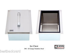 LION PREMIUM GRILLS STAINLESS STEEL DROP IN ICE CHEST-COOLER FOR A BBQ ISLAND