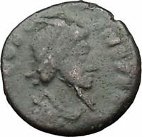 THEODOSIUS I the Great 388AD Ancient Roman Coin Military Camp Gate i32811