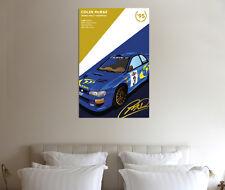 Colin McRae 30x20 Inch Canvas - Subaru Impreza WRC Rally Framed Picture