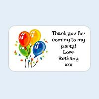 Personalised thank you birthday/labels/stickers/party/cake/sweet/bags