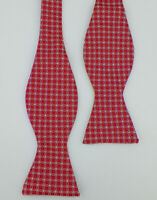 BROOKS BROTHERS Mens Red Blue Light Blue White LINKS Woven Silk Bow Tie NWT