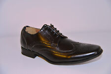 New Peter Werth PTK00406 Brogue Oxford Black Loafer Leather Smart Shoes UK 7