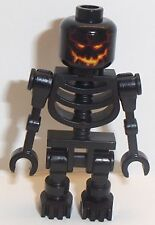 Lego Evil Black Skeleton Minifigure x 1 with Straight Arms