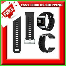 Replacement Band 4 Fitbit Ionic Smart Watch Durable Water Resist Black SZ LARGE
