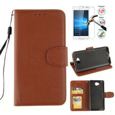 Leather Flip Wallet Card Holder Case Cover For Nokia Lumia 650 730 640XL 530 930
