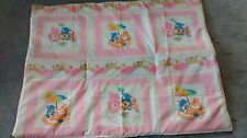 Baby Quilt with pink and white Care Bear design  handmade and new
