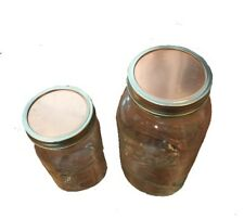 Copper Mason Jar Lids (2) with Silicone Gaskets Make Your Own Thumper