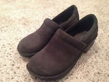 Ladies Born Concept Peggy Clog Shoe Olive Brown Corduoroy Leather US 7.5 Med