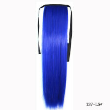 55cm Beauty Straight Hair Remy Ponytail Virgin Clip In Pony Tail Hair Extensions