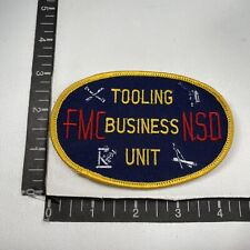 Vtg FMC NSD TOOLING BUSINESS UNIT Advertising Patch Food Machinery Chemicals 13T