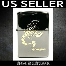 New Japan Korea Zippo lighter scorpion black ice engrave US SELLER