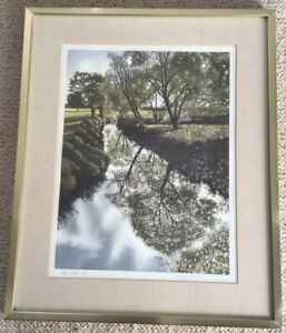 Artist David Evernden Framed Signed Limited Edition Print Water Willows 119/200