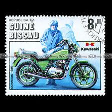★ KAWASAKI Z 440 LTD 1982 ★ GUINE BISSAU Timbre Moto Motociclo Francobollo #28