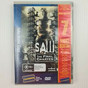 Saw 7 The Final Chapter DVD - TRACKED POST - Ex Rental