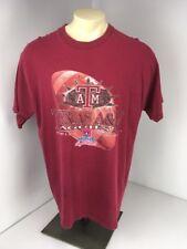 VTG 90s 1999 Texas A&M Auggies Nokia Sugar Bowl Maroon Football T-shirt Sz XXL