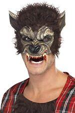 Smiffys - Demi-masque Loup avec Fourrure