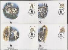 ESTONIA 1994 WWF EUROPEAN FLYING SQUIRREL SET FDC's (x4) (ID:347/D17919)