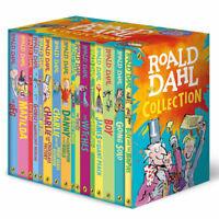 Roald Dahl Classic Collection Witches BFG Matilda Kids Xmas Gift 16 Book Box Set