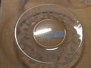 New w Open Box Yankee Candle Jar Plate Sandblast Vine Leaves 1295664