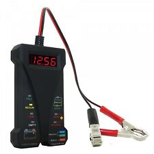 Smart Digital Battery Tester Voltmeter Alternator Analyzer LCD LED Display 12V