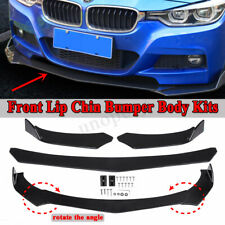 Universal Car Front Bumper Lip Body Kit Spoiler For Honda Civic Mazda GMC Black