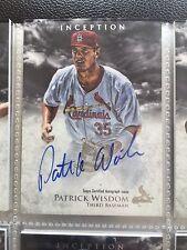 2013 Bowman Inception Prospect Autographs #PA-PW Patrick Wisdom Auto Card