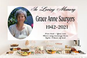 Personalised Memorial Remembrance In Loving memory Banner Name Photo RIP Funeral