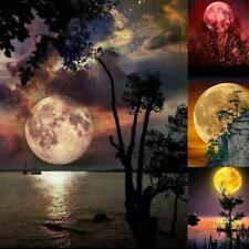5D Full Drill Diamond Painting Moon Scenery Pattern Diy Cross Stitch Mosaic Deco