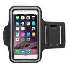 Brazalete Deportivo para iPhone 6/6S/7/8 Funda Ajustable Velcro Neopreno Negro